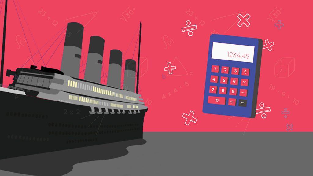 بيانات فرص البقاء علي سفينة تايتانك